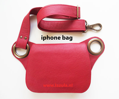 iPhone Bag - Red - Bronze - Curvy