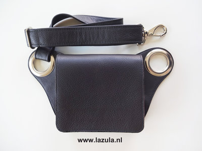 iPhone Bag - Dark Brown - Silver - Slim.